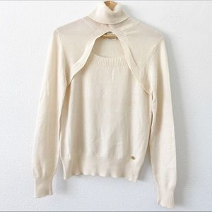 CHANEL Ivory Cream Long Sleeve Cashmere Sweater